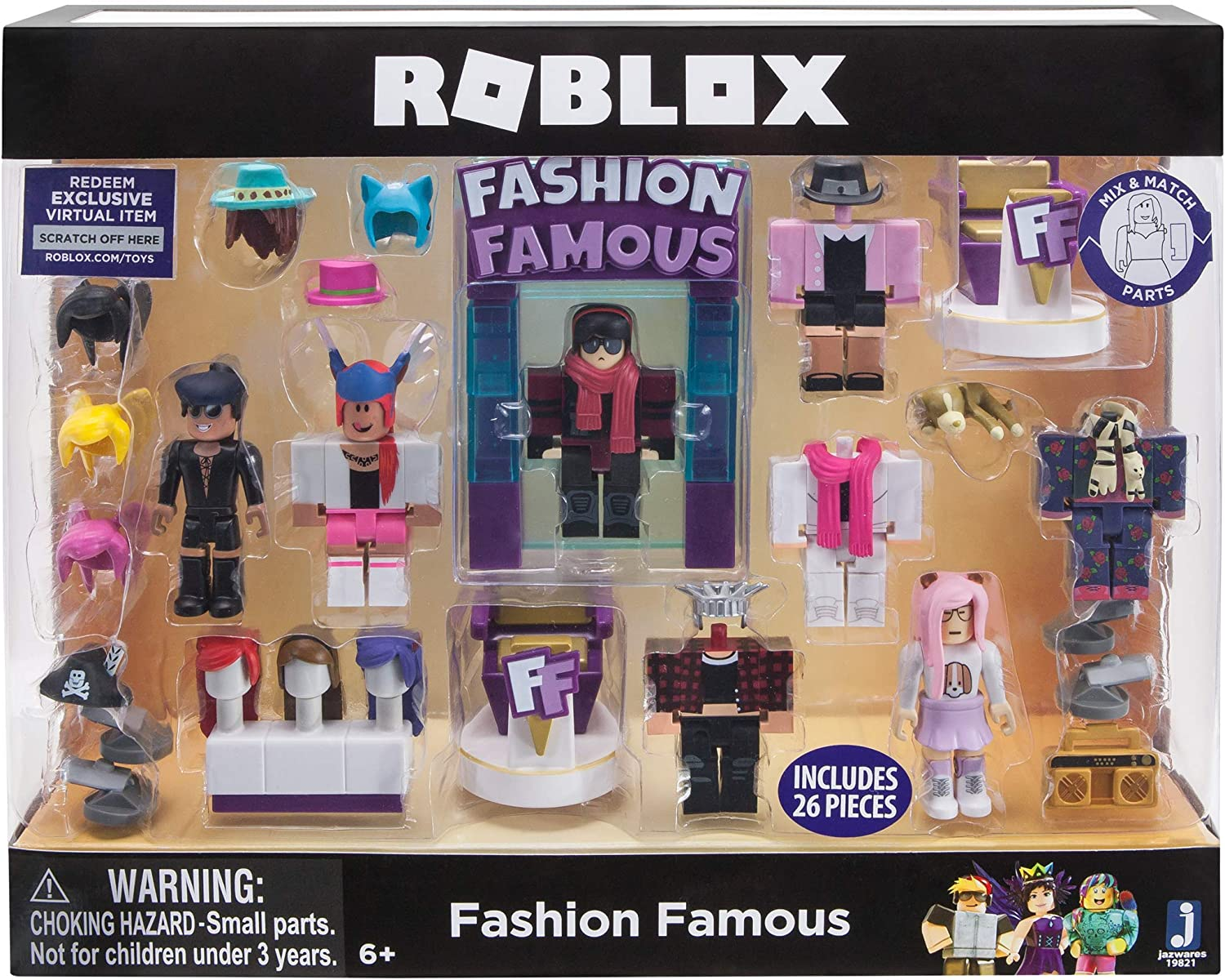 Roblox Fashion Famous Song Codes Roblox Games That Give Amazon Com Roblox Celebrity Collection Fashion Famous Playset Includes Exclusive Virtual Item Toys Games