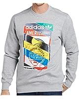 adidas Originals Mens Label Print Jumper
