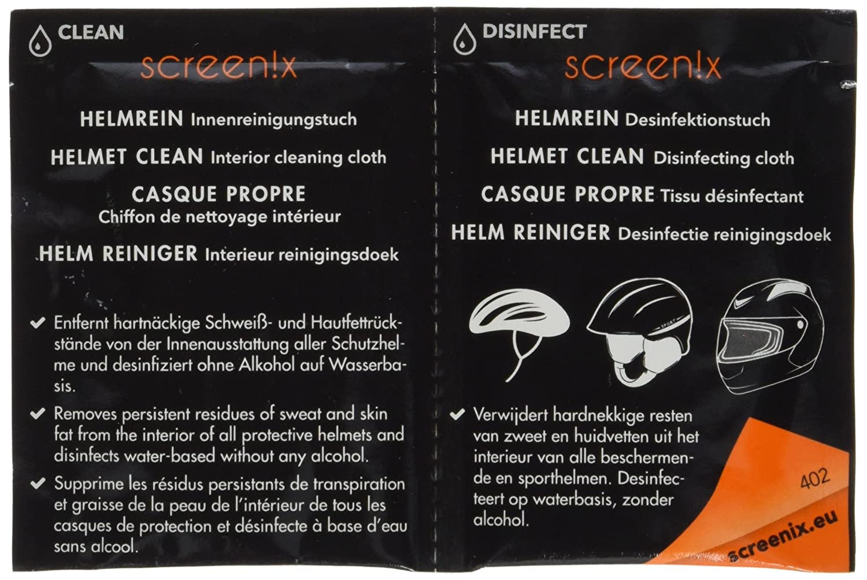 Screenix Helmrein Reinigungs- und Desinfektionstücher, 12 Stück ...