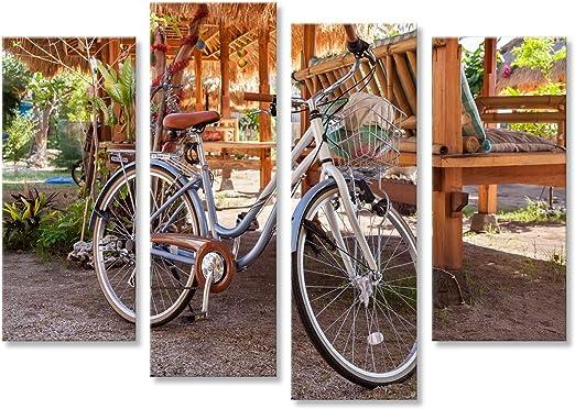 islandburner Cuadro Cuadros Bicicleta para Caminar con la Canasta ...