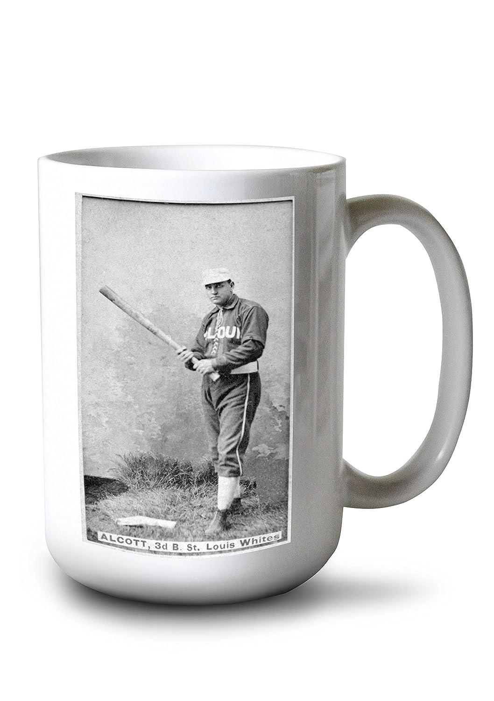 セントルイスWhites – C。オルコット – 野球カード 15oz Mug LANT-3P-15OZ-WHT-23220 15oz Mug  B077RXZCFS