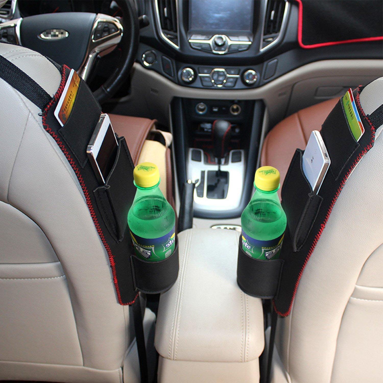 Carte ecc. Penne Raiphy Multifunzione Borsa di immagazzinaggio laterale del Sedile della Tasca di Automobile Per Bevande bicchieri Spuntini