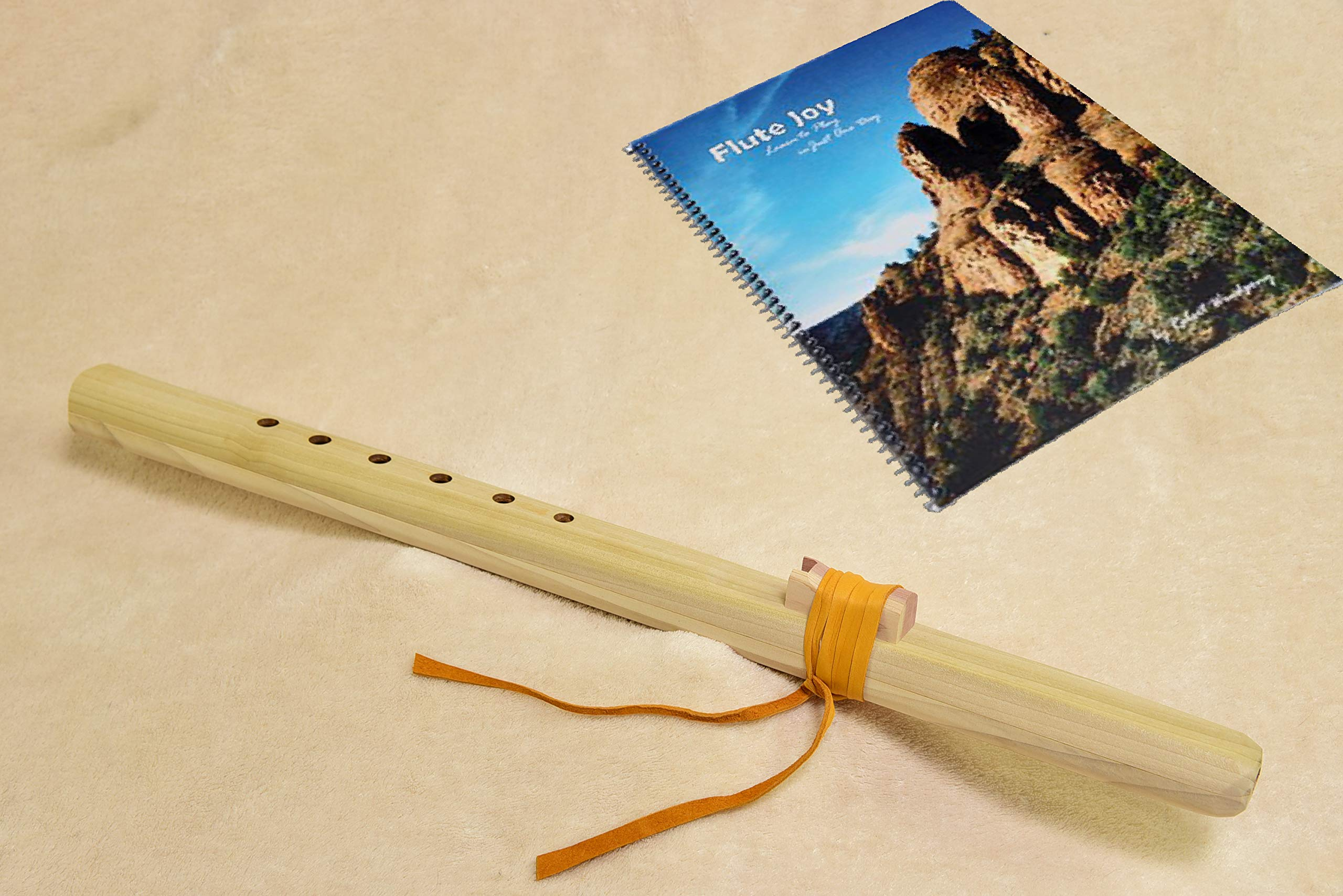 Windpony Unfinished Poplar Flute in the Key of G with Instruction Book