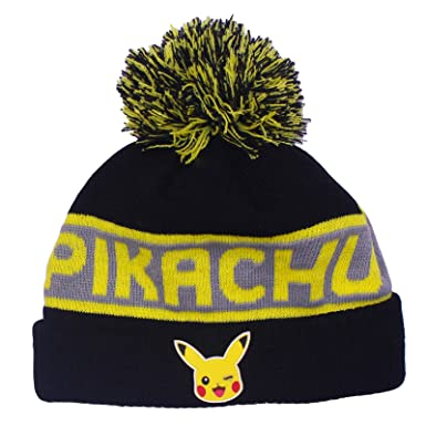 4b98ecb7a09 Pokemon Official Licensed Boys Kids Pikachu Winter Bobble Beanie Hat Age  7-10 Years  Amazon.co.uk  Clothing