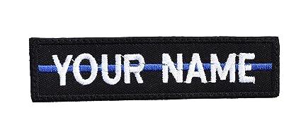 892b980cba33 Amazon.com: Rectangular 1 Line Custom Embroidered Name Tag with sew ...
