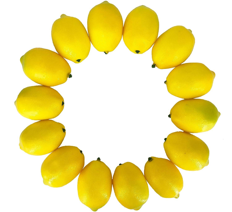 Dasksha Realistic Fake Lemons Set -14PCS - Real Looking Fake Fruits for Decoration