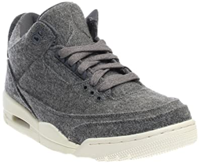 quality design dd285 a1821 Jordan Nike Men s Air 3 Retro Wool Dark Grey Dark Grey Sail Basketball Shoe
