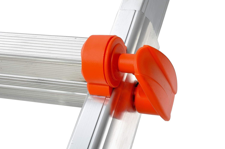 , Gierre AL020 Escalera telesc/ópica de aluminio EN131 4+4