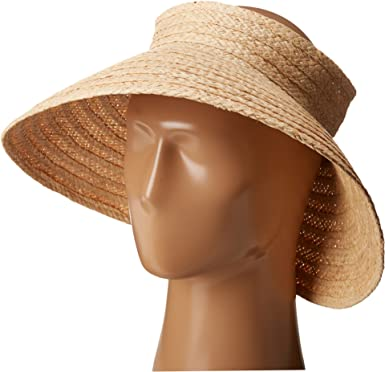 Hat Attack Women s Roll Up Travel Visor Natural Hat at Amazon ... 36bc1d3d2dbb