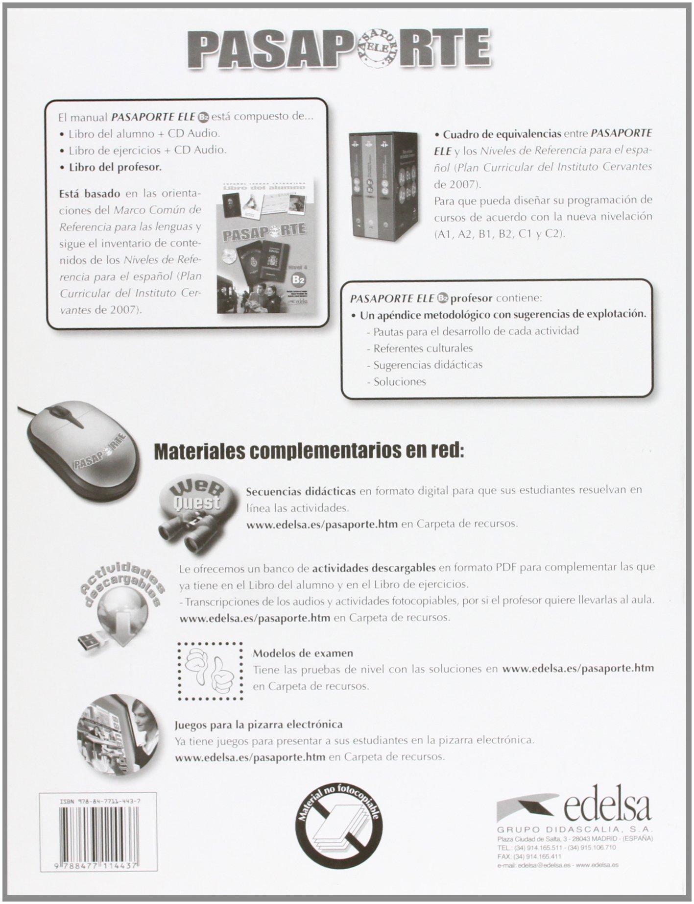 Pasaporte: Libro Del Profesor B2 (Spanish Edition ...