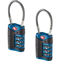 Lewis N. Clark TSA-Approved Easy-to-Set Combination Luggage Lock with Steel Cable