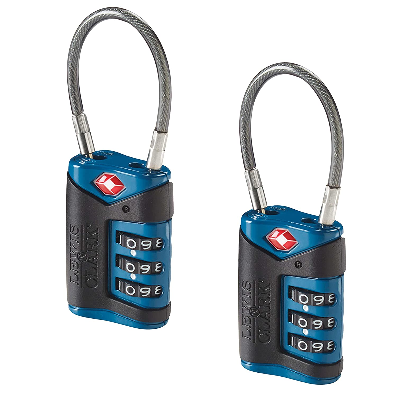 4014648 Lewis N Clark Travel Sentry Cable Lock 2 Pack black