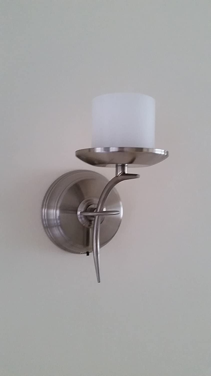 Flameless Candle Wall Sconce - Pewter - Battery Operated Candle Impressions 0523