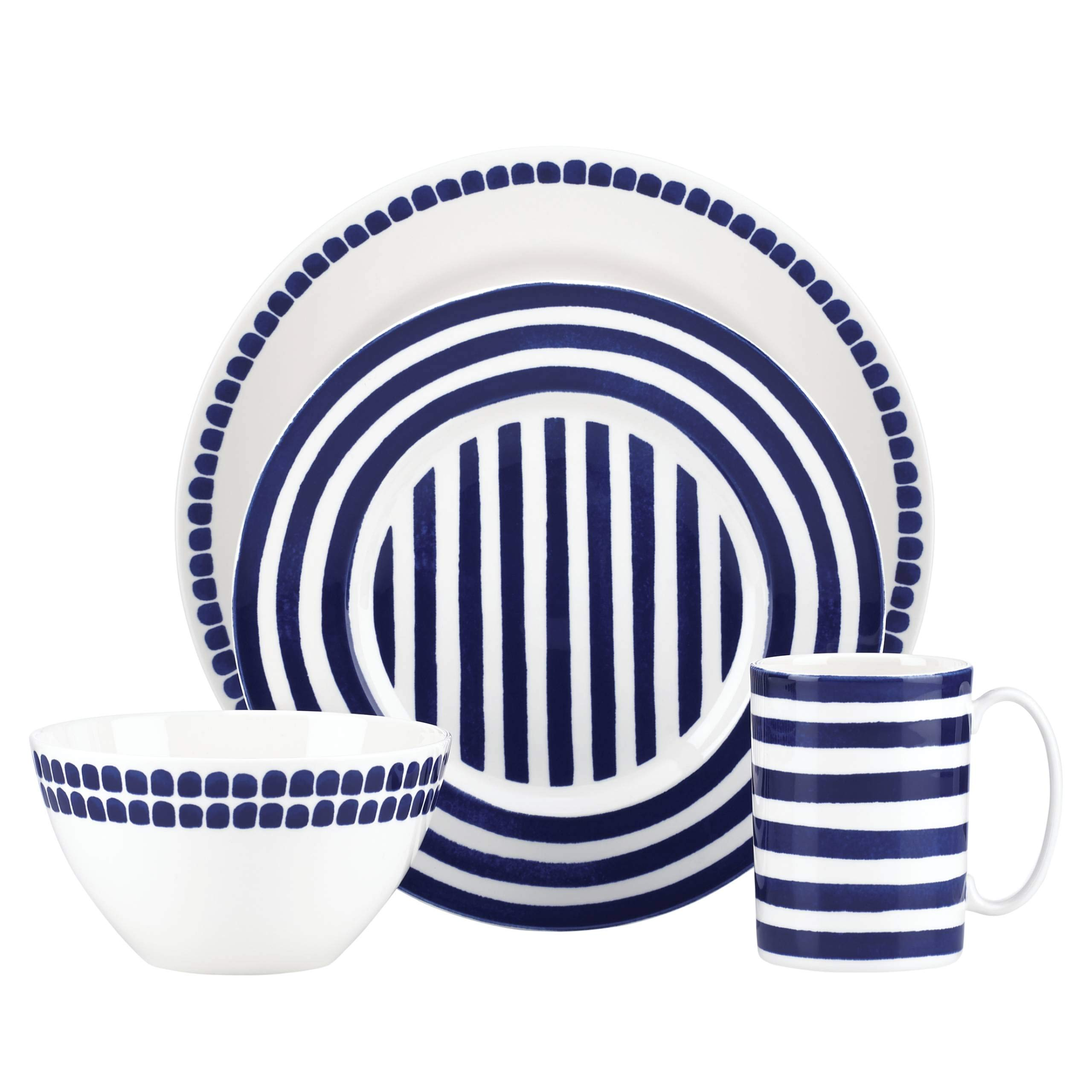 Kate Spade New York 844093 Charlotte Street North 4 Piece Place Setting by Kate Spade New York