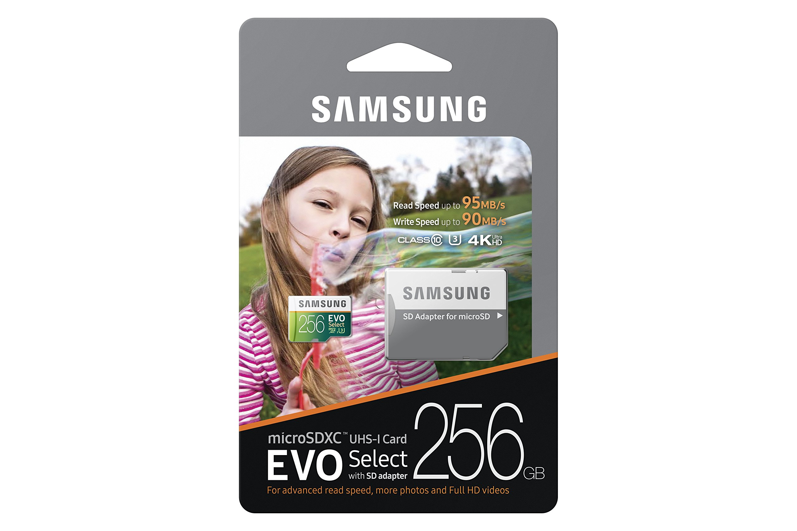Samsung 256GB 95MB/s MicroSDXC EVO Select Memory Card with Adapter (MB-ME256DA/AM) by Samsung (Image #4)
