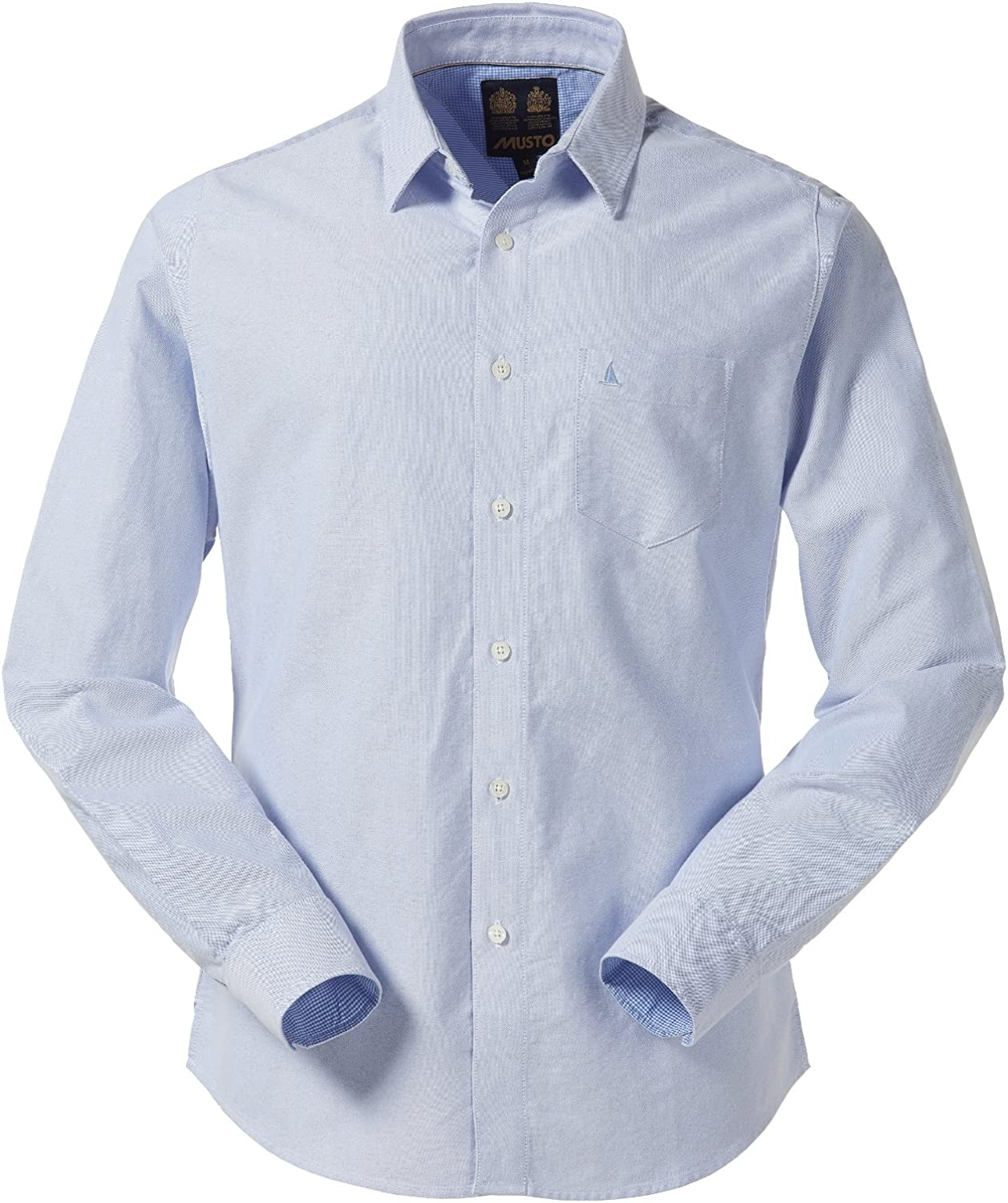 Musto Aiden Oxford Camiseta – Pale Blue Tamaño L: Amazon.es: Deportes y aire libre