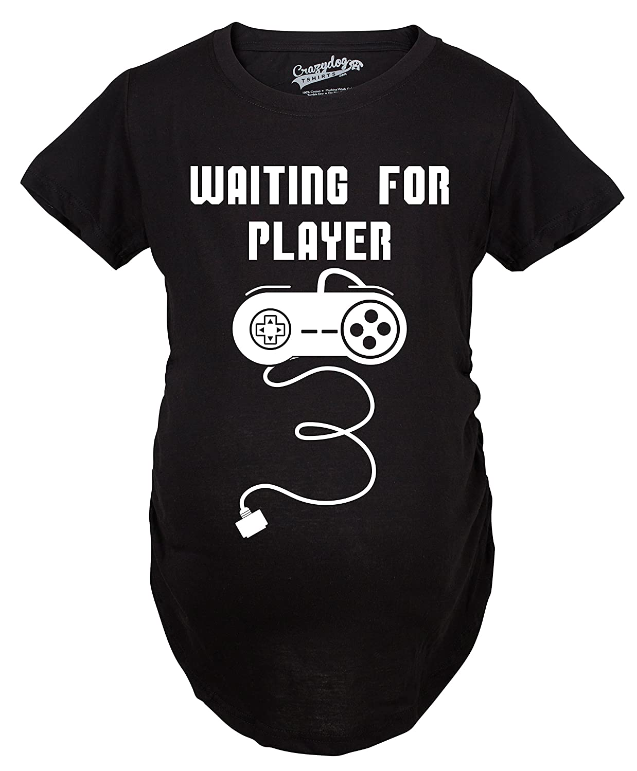 Maternity Waiting Player 3 Funny Im Pregnant Shirt Announce Pregnancy Gamer T Shirt Crazy Dog Tshirts 017WaitingPlayer3MAT