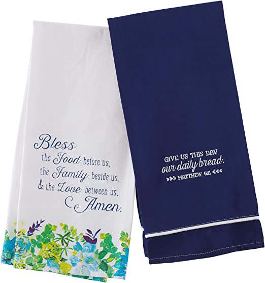 A Caring Heart White 9 x 9 Inch Cotton Flour Sack Towel