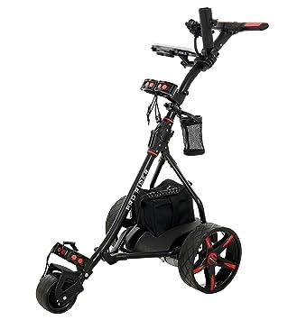 Carro de golf eléctrico, rojo & negro