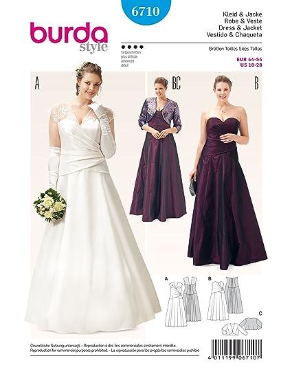 Burda Style Sewing Pattern 6710 - Misses Dress 7 Jacket, Close-fitting (18