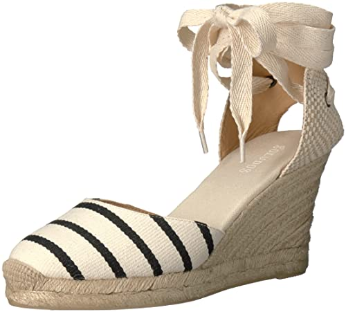 2a527534bb2 Soludos Womens Striped Tall Wedge (90mm) Flat