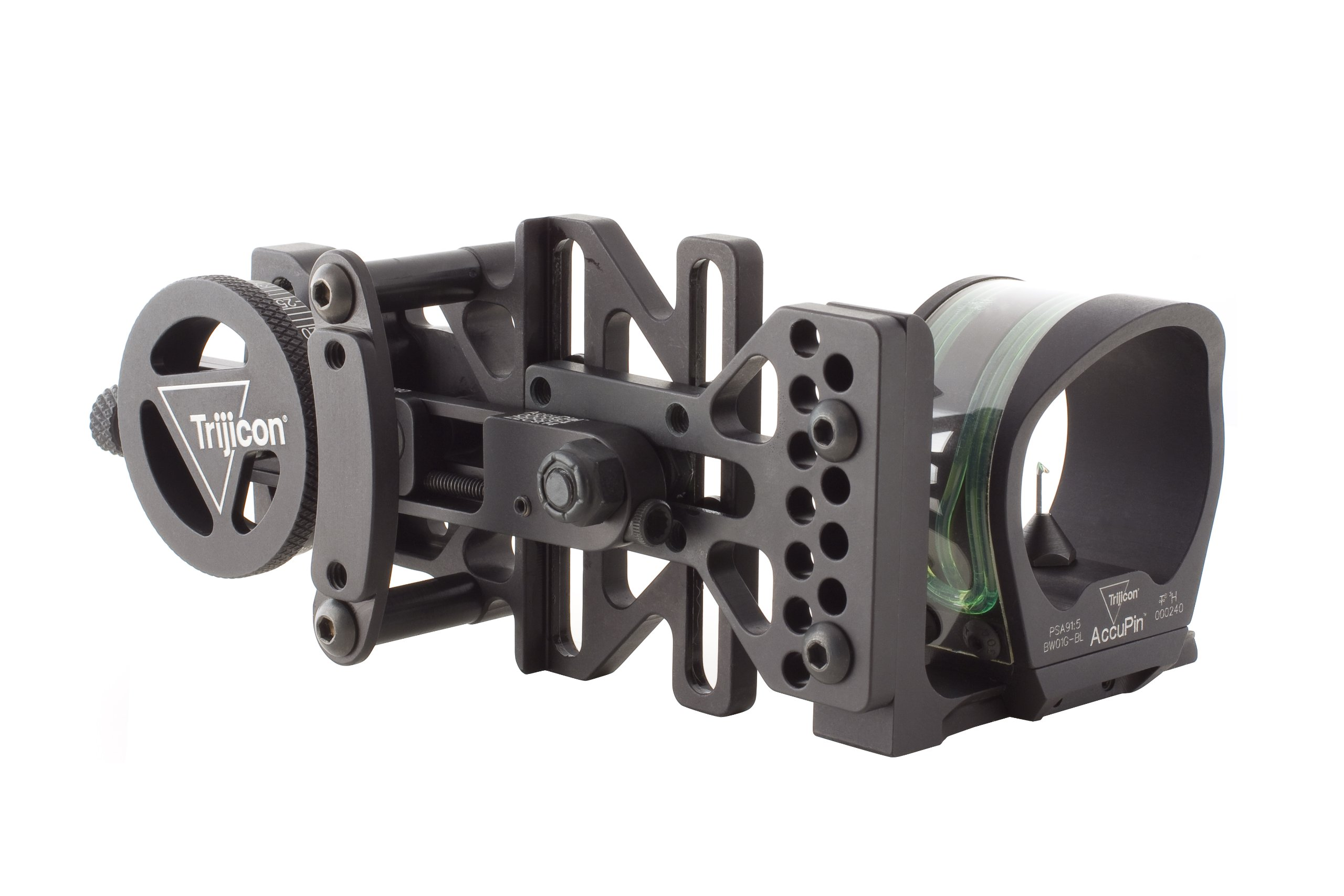 Trijicon AccuPin Bow Sight Green Triangle with AccuDial Mount Right Handed (Black)