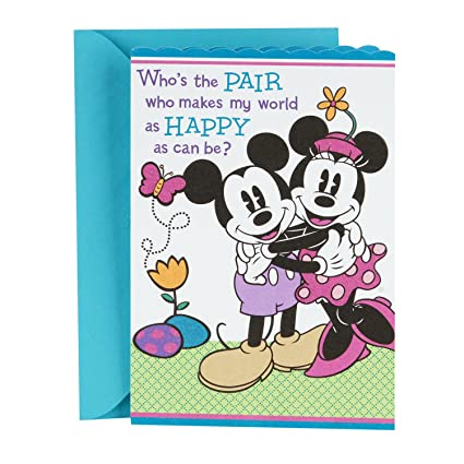 Amazon hallmark easter greeting card for grandparents from hallmark easter greeting card for grandparents from kids disney mickey mouse and minnie mouse m4hsunfo