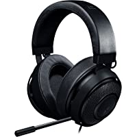 Razer Kraken Pro V2: Lightweight Aluminum Headband - Retractable Mic - in-Line Remote - Gaming Headset Works PC, PS4, Xbox One, Switch, Mobile Devices - Black