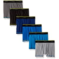 Boys' Cool Comfort Breathable Mesh Boxer Brief 6-Pack Assorted Color