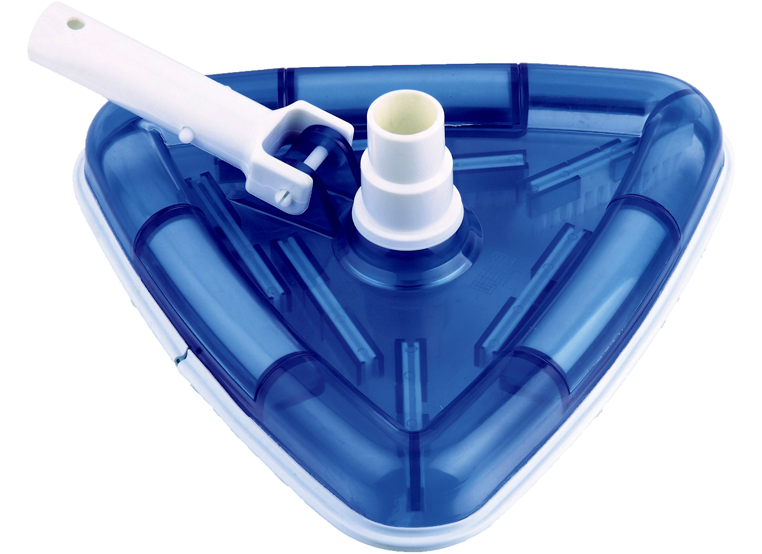 SmartPool Deluxe See Thru Vacuum Head, Small, White Blue