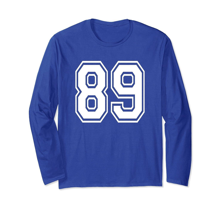 89 Number Sports Player School Team Long Sleeve Shirt-ln