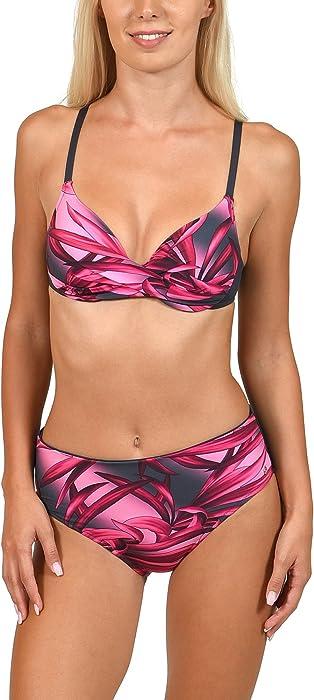 e4351156b9515 Lisca Pink 'iOS' high Waisted Bikini Bottoms (Pink, L): Amazon.co.uk ...