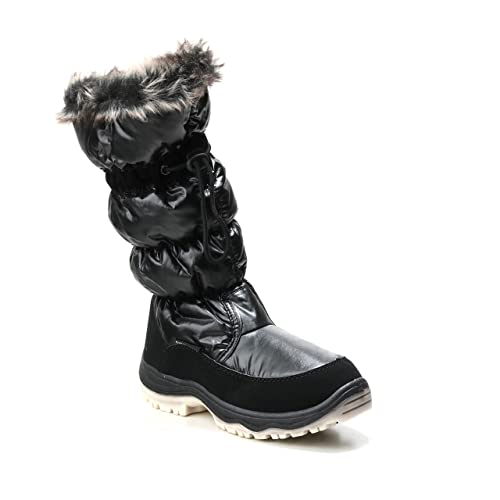HERIXO Damen Stiefel Winter dick gefütterte Snowboots Schnee-Schuhe  Kunstfell Rutschfeste Profilsohle warm wasserdicht  Amazon.de  Schuhe    Handtaschen f12e8951d9