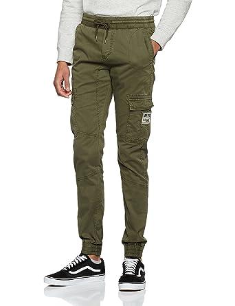 c32454bec Deeluxe Falkon Pantalon, Vert (Kaki), Medium (Taille Fabricant: M ...