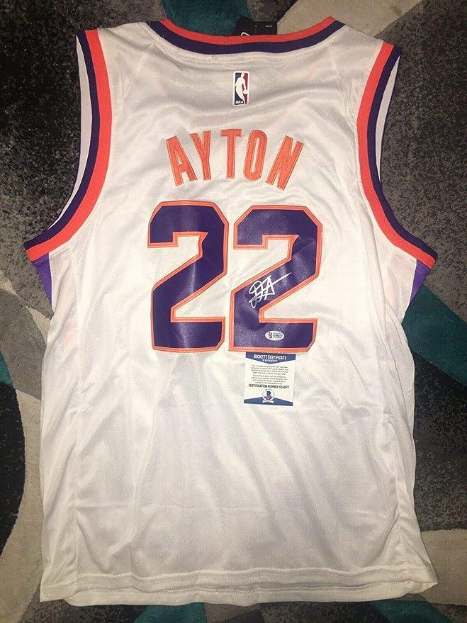 quality design db47d 2e8ea Deandre Ayton Autographed Signed Memorabilia Phoenix Suns ...