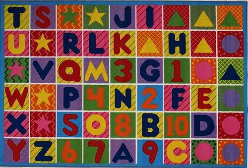 LA Rug Numbers Letters Rug 8 x11