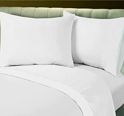 1 Queen Fitted Best Quality Bed Sheet White T 200 Percale Hotel Linen  Christmas Eve