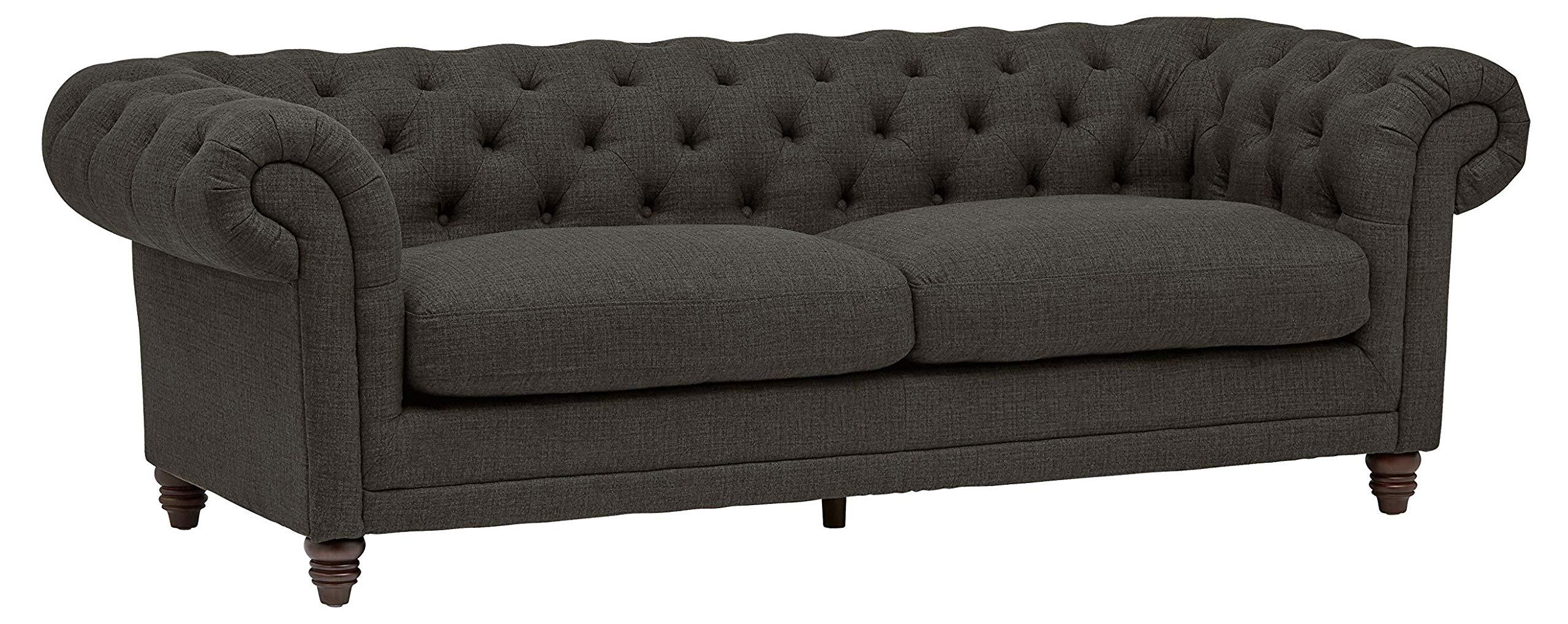 Stone & Beam Bradbury Chesterfield Classic Sofa, 92.9''W, Pepper by Stone & Beam