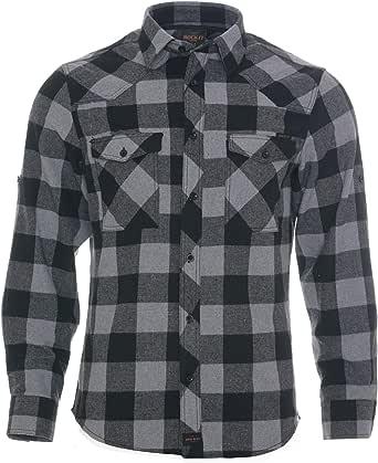 ROCK-IT Apparel® Camisa de Franela para Hombres Manga Larga Camisa de leñador Camisa de Cuadros Camisa Casual Premium Camisa de Cuadros Hecha en Europa Tallas S-5XL