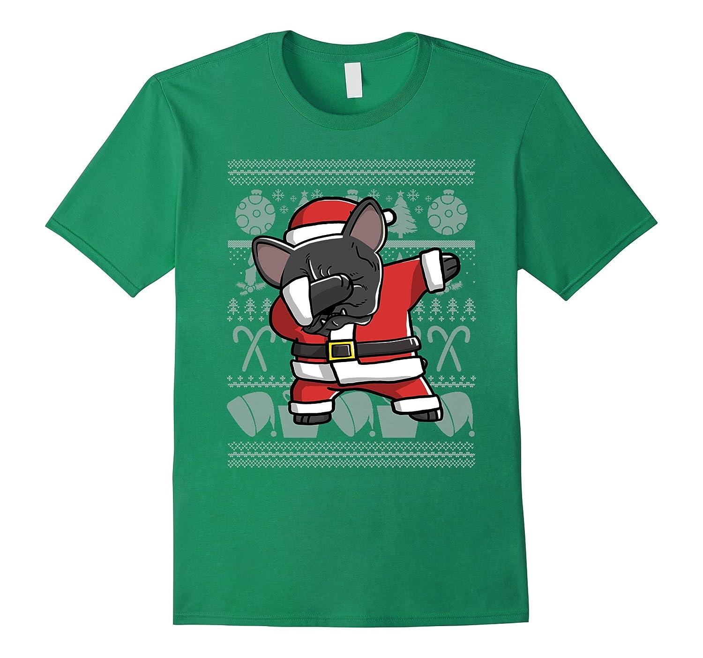 Dabbing French Bulldog Dog Ugly Christmas T-Shirt-Art