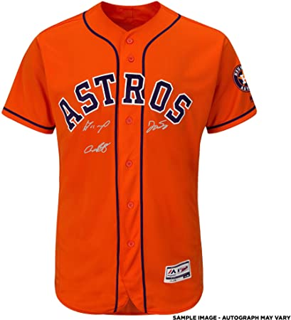 2f895c0fa Jose Altuve, Alex Bregman and George Springer Houston Astros 2017 MLB World  Series Champions Autographed