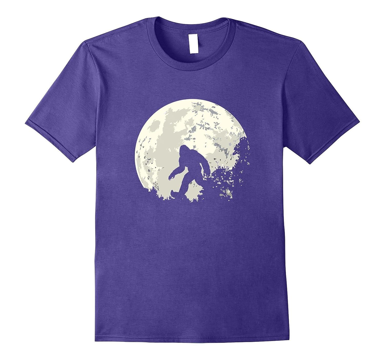 Bigfoot Moon Sasquatch T Shirt - I Believe in Bigfoot Tee-FL