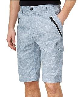 Sean John Lightweight Linen Blend Khaki Cargo Shorts