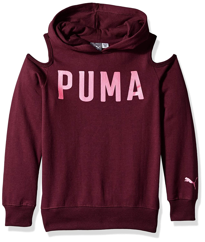 PUMA Girls Cold Shoulder Hoodie