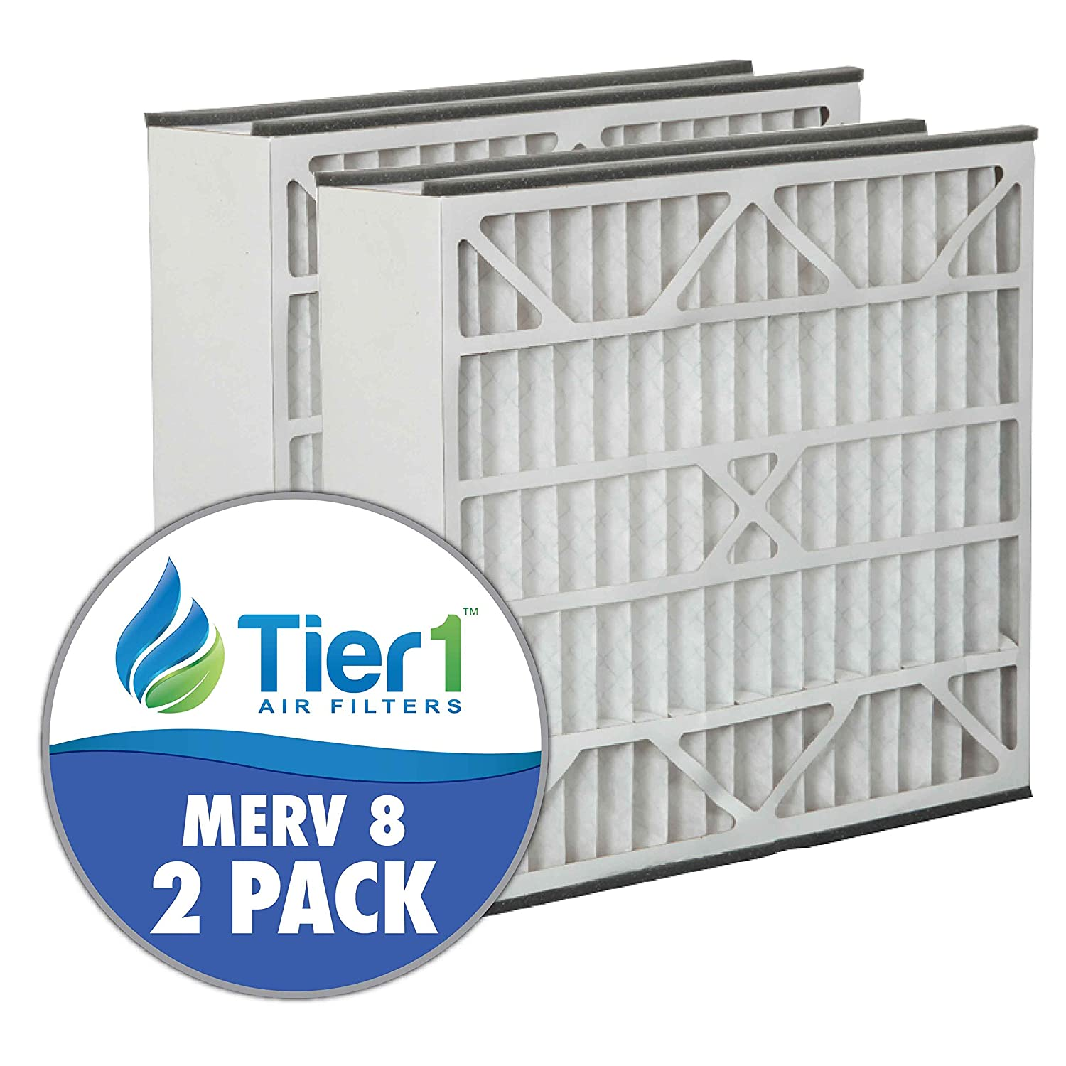 Skuttle 20x25x5 Merv 8 Replacement AC Furnace Air Filter (2 Pack ...