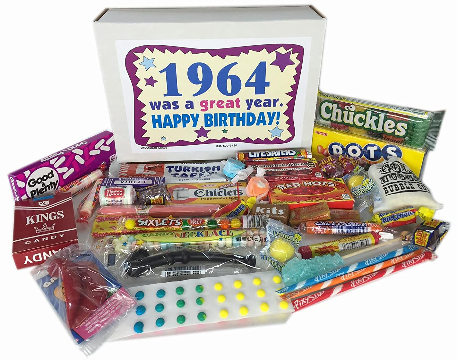 53rd Birthday Gift Box Of Nostalgic Retro Candy For A 53 Year Old Man Or Woman