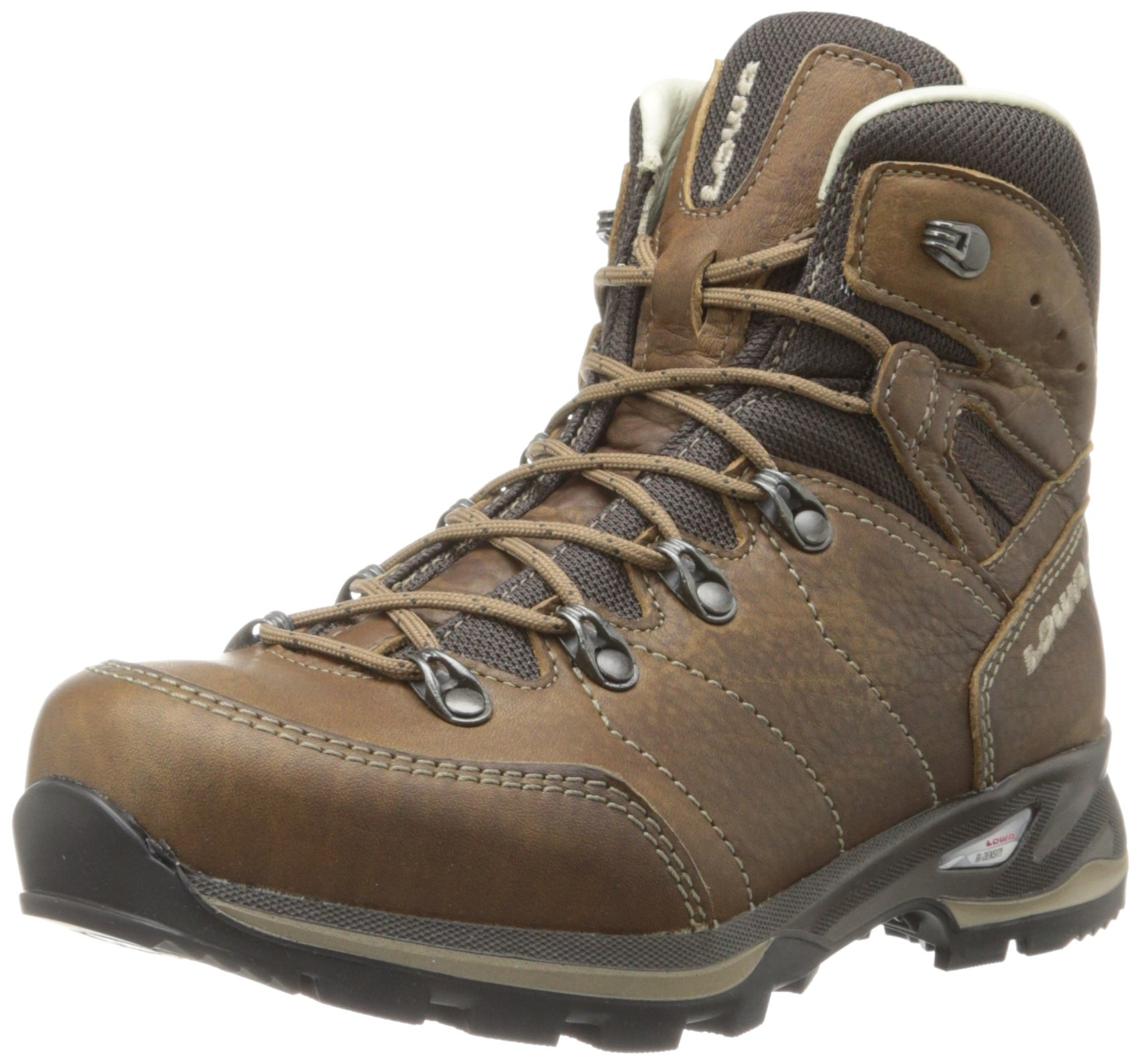 Lowa Women's Hudson Leather Lined Mid Hiking Boot,Taupe,7.5 M US