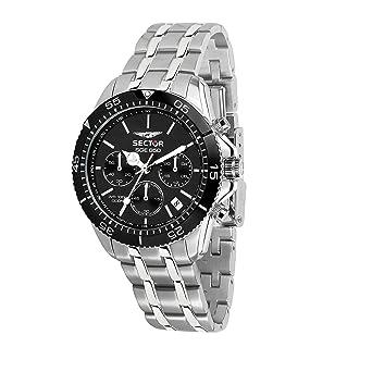 ce02c9249ad SECTOR NO LIMITS Herren Chronograph Quarz Uhr mit Edelstahl Armband  R3273962002  Amazon.de  Uhren