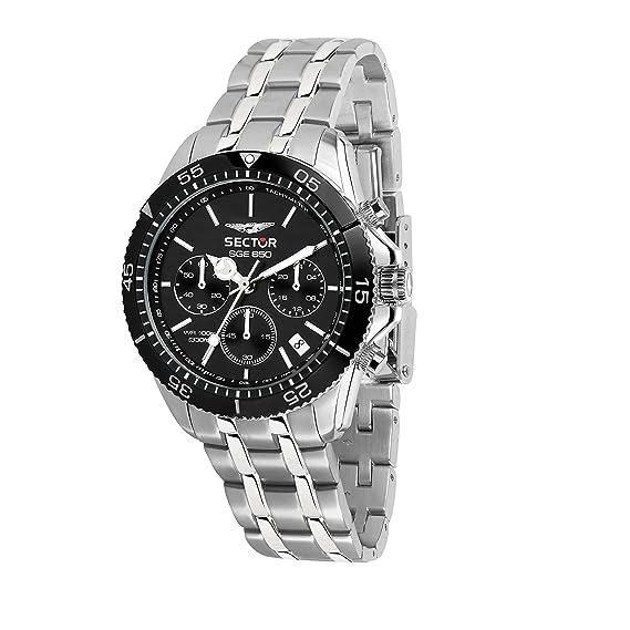 SECTOR NO LIMITS Reloj Cronógrafo para Hombre de Cuarzo con Correa en Acero Inoxidable R3273962002: Amazon.es: Relojes