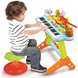 Prextex Toy Piano Keyboard for Kids with Real Working Microphone Electronic Musical Instrument Piano Toy Keyboard with…